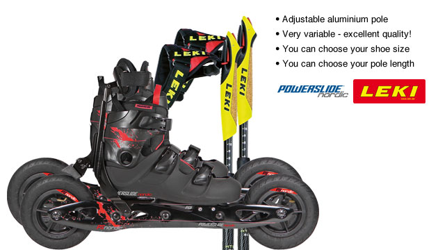 Nordic Cross Skates Powerslide XC Trail Powerslide XC Trail Set with LEKI Titanium Vario Poles