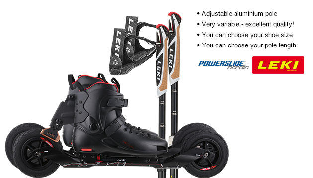 Nordic Cross Skates Powerslide XC Trail 2 Powerslide XC Trail 2 Set with LEKI Alu Vario CC Poles