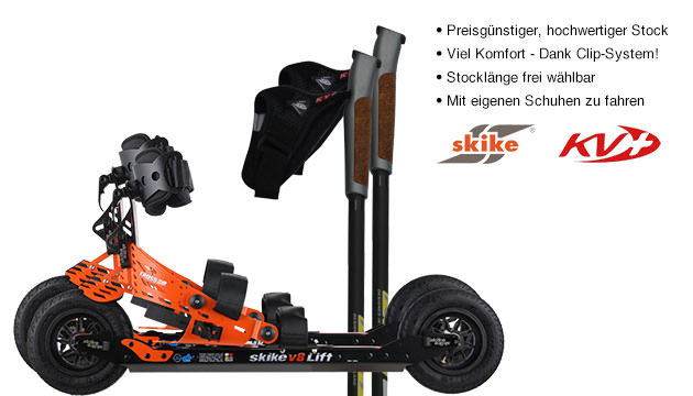 Nordic Cross Skates Skike v8 LIFT Cross Skike v8 LIFT Cross Set mit KV+ Advance Stöcken