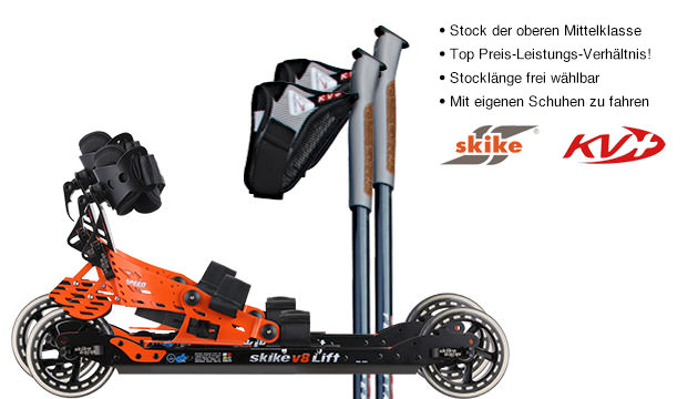 Nordic Cross Skates Skike v8 LIFT Speed Skike v8 LIFT Speed Set mit KV+ Tempesta Stöcken