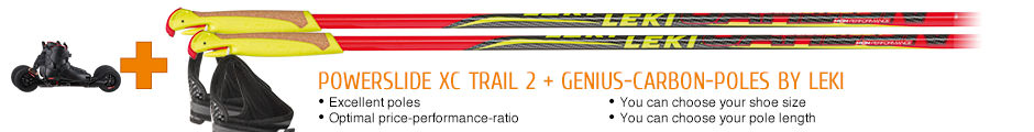 Excellent poles, optimal price-performance-ratio, you can choose your shoe size, you can choose your pole length
